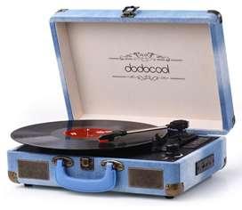 Tornamesa tocadiscos tipo maletin con Bluetooth