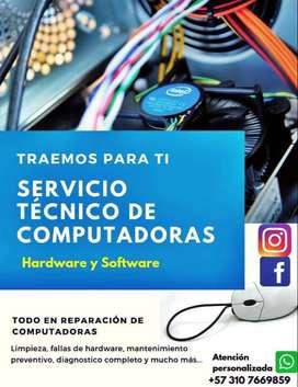 Se realiza servicio tecnico en computadores. Medellin