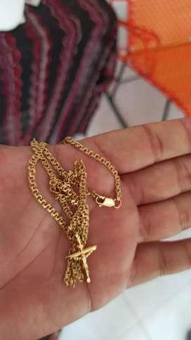 Cadena de oro italiano tejido aleman