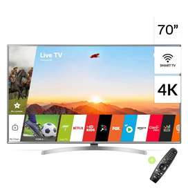 "TELEVISOR Smart TV 70"" 4K UHD 70UK6550PSA ThinQ AI LG"