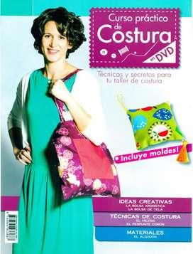 CURSO PRÁCTICO DE COSTURA, 12 Fascículos y 12 DVD, Editorial PLANETA