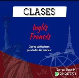 Clases de apoyo INGLÉS y FRANCÉS y PRIMARIA.