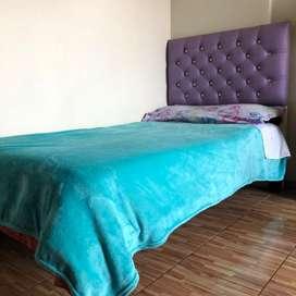 Vendo cama (tarima + espaldar)