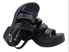 Sandalias Negras de Cuero para Mujer- Zapatos- Moda Savage Sofi-102