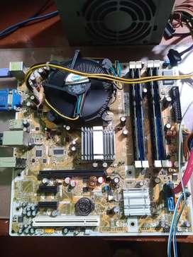 Combo Board HP + Procesador Intel Core2Quad + 8 GB RAM