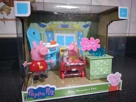Peppa Pig Playset Visita del bebé Alexander