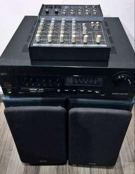 Sonido de estudio Vintage Parlantes Fisher Americanos y Amplificador Goldstar Japones y mixer interfaz Topp pro Mx.6 USB