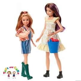Nuevo Original Barbie muñecas Skipper y Stacie granjeras