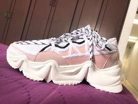 Vendo zapatillas palo rosa