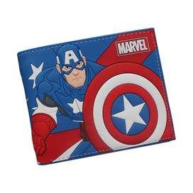 Billetera Capitán América Super Héroe Uniforme Cartera Impor