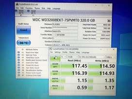 Vendo HD 320GB WD scorpio black SATA 2.5pulg WD3200BEKT