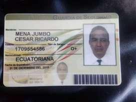 ESTOY BUSCANDO TRABAJO DE GUARDIA