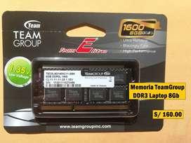 Memorias para Laptop DDR3 NUEVAS