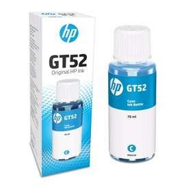Tinta ORIGINAL para HP GT52 de 70ml (Negra, Cyan, Amarillo y Magenta)