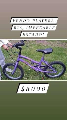 Bici Playera R 16