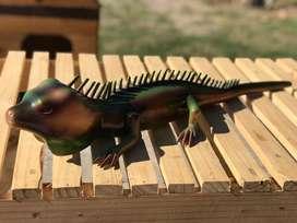 Artesania en madera iguana