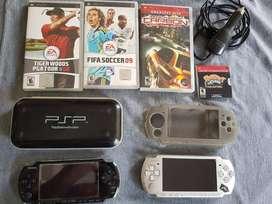 PSP chipeada con juegos y accesorios, usado segunda mano  Santa Fe, Santa Fe