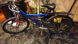 Bicicleta tipo Mountain con Doble Suspensión rod. 26 - Kit Shimano - Llantas Aluminio Doble