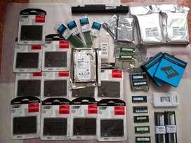 Discos SSD, HDD, Memorias, otros