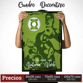 Cuadro Decorativo de Linterna Verde Comic Style