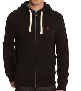 Chompa Hoodie Polo Ralph. Lauren Jacket /medium/ Negra Pony Rojo