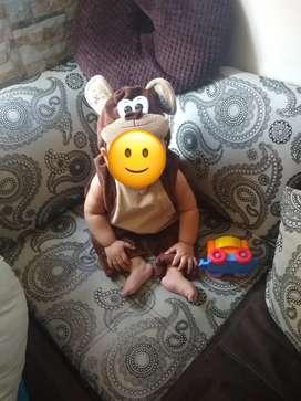 Se vende disfraz usado de mico para bebe