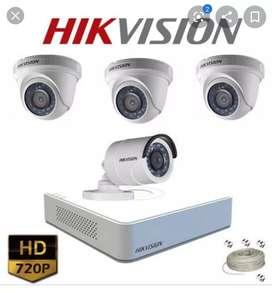 Vendo kit de 4 cámaras hilook usadas