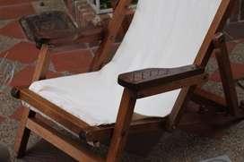 Silla de descanso en madera