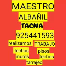 Maestro albañil tacna