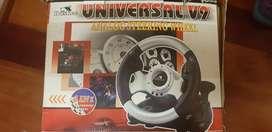Volante huskee universal v9 para playstation y Xbox.
