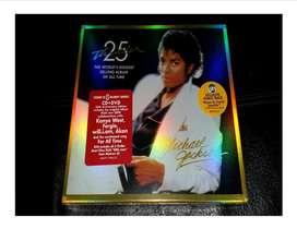 MICHAEL JACKSON CD AUDIO CON DVD VIDEOS THRILLER 25 ANIVERSARIO  NUEVO
