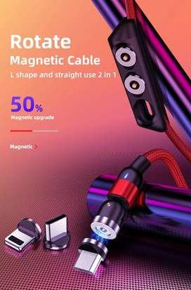 Cable De Carga Magnetico 3 En 1 Micro Usb, iPhone, Tipo-c