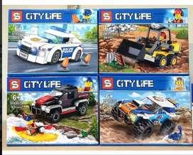Bloque City Life Policia Kayac Aventura Tractor