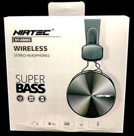 Audifonos bluetooth de diadema grande NIATEC Deluxe