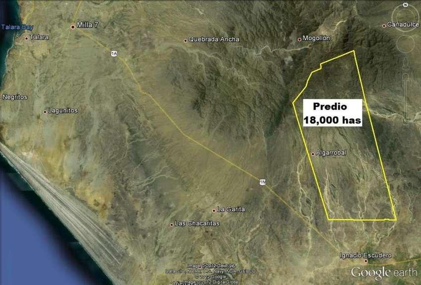 Se venden 18 mil hectáreas agrícolas, agua superficial. Sullana. Piura 0