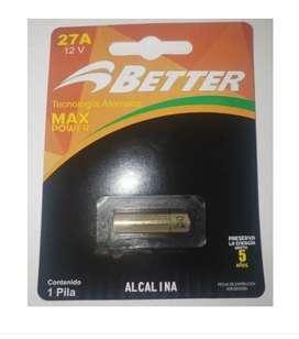 Pila Batería Better Ref27a Alcalina 12v Blister Por 1 Unidad