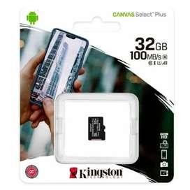 Memoria Kingston Canvas Select Plus 32GB 100MB/S MICRO SD Sin Adaptador