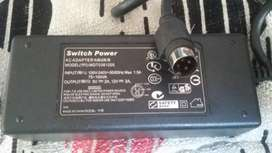 Switch Power MDT0361205- Adaptador para Disco Duro Externo, alimentación AC, 5V, 12V, 2A, 6pines
