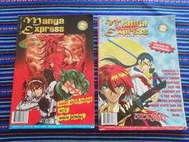Revistas Manga express #11 y #12 manga y anime