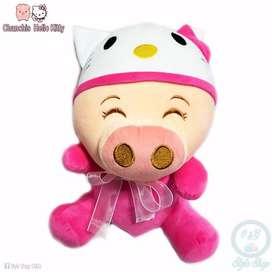 Peluche Chanchi Hello Kitty Chancho Bolsa Regalo