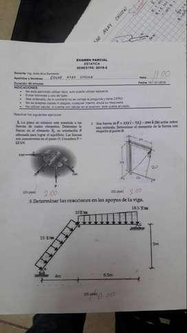 CLASES ESTADÍSTICA, MATEMÁTICA FINANCIERA, FÍSICA 3, QUÍMICA, CALCULO 3, BIO ESTADÍSTICA