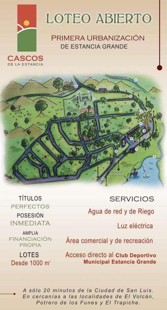 Lote en Venta en Cascos de la estancia, Estancia grande  650000 0