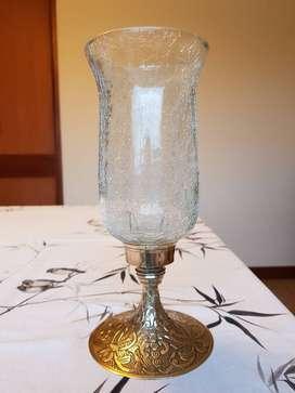 Candelabro en Bronce para una vela