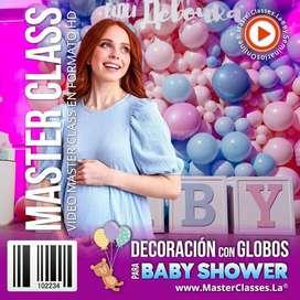 CURSO DE DECORACIÓN CON GLOBOS PARA BABY SHOWER: MASTERCLASS