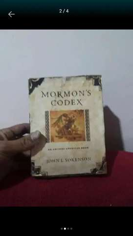 Libro antiguo artesanal Mormons Codex