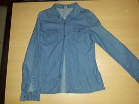Camisa de jean mujer