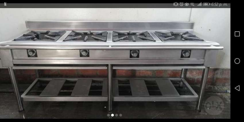 Cocina Industrial 4 Hornillas Acer Inox 0