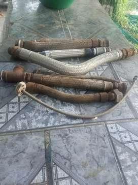 Caños flexibles para vapor malla acero inox