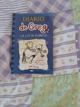 Libro el diario de Gref 2, la ley de rodrick por jeff Kinney