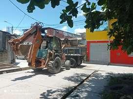 Venta de materiales de construcción y eliminación de desmonte .